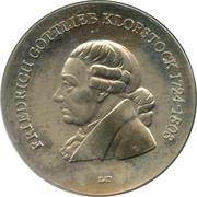 5 Mark (Friedrich Gottlieb Klopstock) – reverse