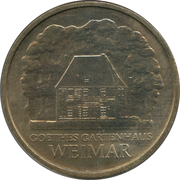 5 Mark (Goethe's Weimar Cottage) – reverse