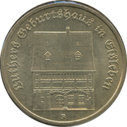 5 Mark (Luther's Birthplace in Eisleben) – reverse