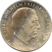 10 Mark (Georg Wilhelm Friedrich Hegel) – reverse