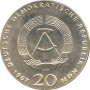 20 Mark (Wilhelm von Humboldt) – obverse