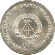 20 Mark (Johann Gottfried Herder) – obverse