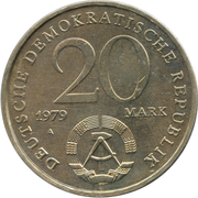 20 Mark (30 Years of DDR) – obverse
