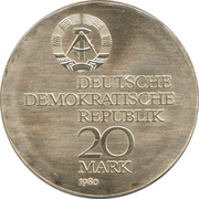 20 Mark (Ernst Abbe) – obverse