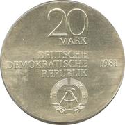 20 Mark (Carl Freiherr vom Stein) – obverse
