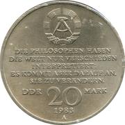 20 Mark (Karl Marx) – obverse