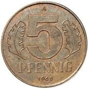 5 Pfennig (Pattern) – reverse