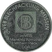 Token - VEB Blechpackung Meissen – obverse