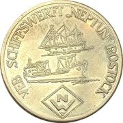 "Tourist medal - VEB Shipyard ""Neptun"" Rostock – obverse"