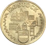 "Tourist medal - VEB Shipyard ""Neptun"" Rostock – reverse"