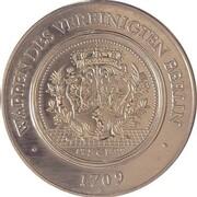 Medal - 750th Anniversary Berlin German Historical Museum (Wappen des Vereinigten Berlin 1709) – reverse