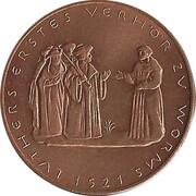 Token - 450 years of Reformation (Luthers erstes Verhor zu Worms) – reverse