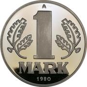 Token - 1 Mark 1980 – obverse