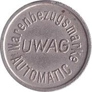 Vending Token - Warenbezugsmarke UWAG Automatic – obverse