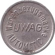 Vending Token - Warenbezugsmarke UWAG Automatic – reverse