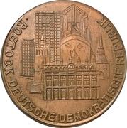 Medal - Rat der Stadt Rostock – reverse