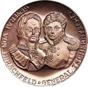 Medal - General Hirschfeld and General Tschernyshew (Battle of Dresden commemoration) – obverse
