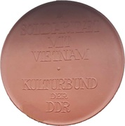 Meissen medal (Solidarity with Vietnam) – reverse
