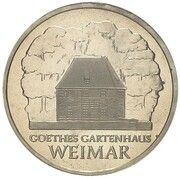 5 Mark (Goethe's Weimar Cottage - Pattern) – reverse