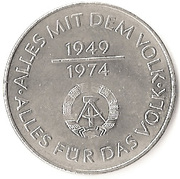 10 Mark (25th anniversary of the GDR) -  obverse