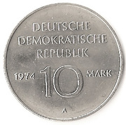 10 Mark (25th anniversary of the GDR) -  reverse