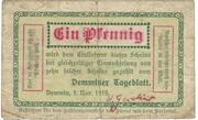1 Pfennig (Demminer Tageblatt) – obverse
