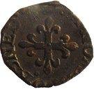 1 Liard - Delfino Tizzone (Crowned H, cross of fleur de lis) – reverse