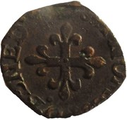 1 Liard - Delfino Tizzone (Crowned H, cross of fleur de lis) – reverse