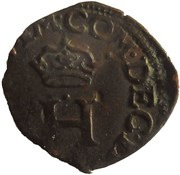 1 Liard - Delfino Tizzone (Crowned H, cross of fleur de lis) – obverse