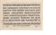 10 Heller (Deutsch-Wagram) -  reverse