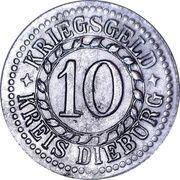 10 Pfennig - Dieburg – reverse