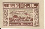 10 Heller (Diersbach) -  obverse