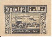20 Heller (Diersbach) -  obverse