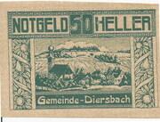 50 Heller (Diersbach) -  obverse