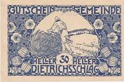 30 Heller (Dietrichschlag bei Leonfelden) – obverse