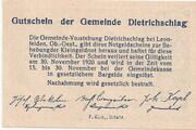 30 Heller (Dietrichschlag bei Leonfelden) – reverse