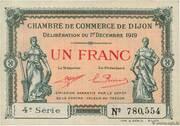 1 franc - Chambre de Commerce de Dijon (4e série) – obverse