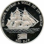 "100 Francs (""Bateau"") – reverse"