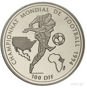 100 Francs (World Cup 1994) – reverse