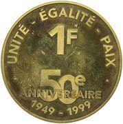 1 Franc (Anniversary French Djibouti) – reverse