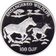 "100 Francs (""Endangered Wildlife"") – reverse"
