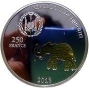 250 Francs (Elephant) – obverse