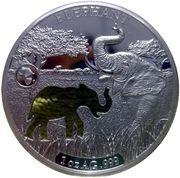 250 Francs (Elephant) – reverse