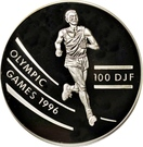 100 Francs (Olympic Games) – reverse