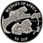 50 Francs (Lions) – reverse