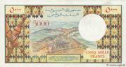 5,000 Francs – reverse