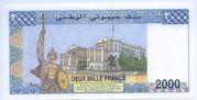 2000 Franc – reverse
