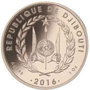 250 Francs (Antelope) – obverse
