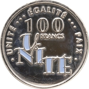 100 Francs (Anniversary of Independence) – reverse