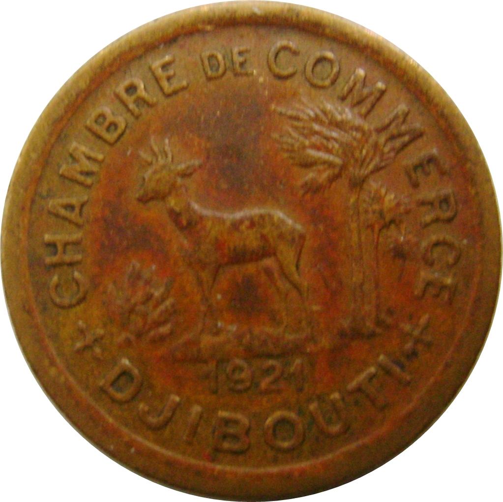 50 centimes chambre de commerce djibouti numista
